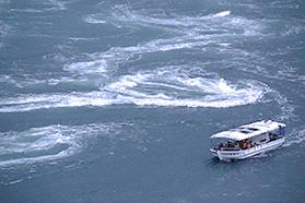 来島海峡急流観潮船 潮流体験