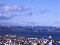 ホテルから来島眺望